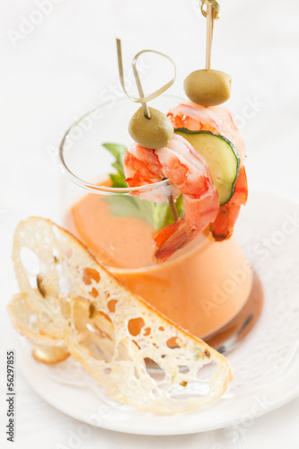 gazpacho in portion glass