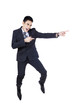 Businessman pointing something