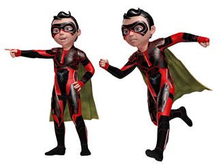 Kleiner Junge als Comic-Superheld 1