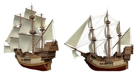 Piratenschiff aus verschiedenen Perspektiven 2