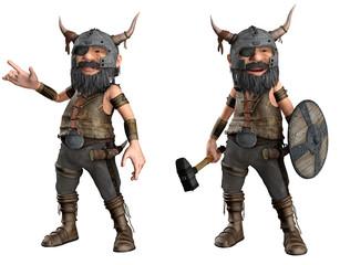 Vikinger-Mann Cartoon