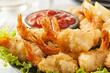 Leinwandbild Motiv Fried Organic Coconut Shrimp