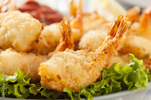 Fried Organic Coconut Shrimp