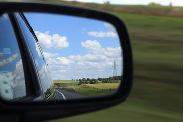 mirror of a car
