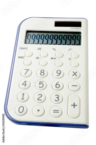 calculator on a white background