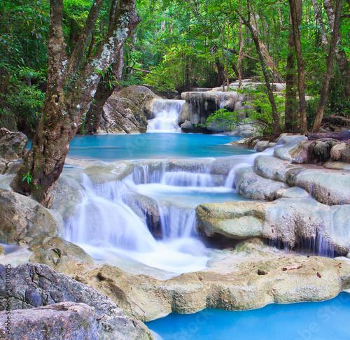 Erawan waterfall in Kanchanaburi province of Thailand - 56300625