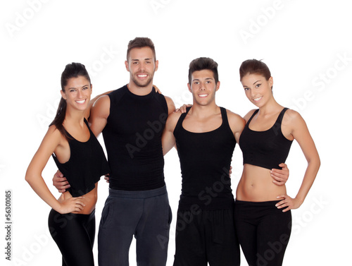 Group of young people with sport clothes