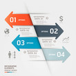 Abstract business infographics template.