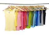 Female colorful shirt on a hanger