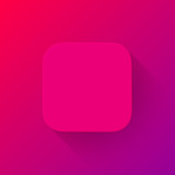 Magenta Technology App Icon Blank Template