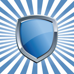 Shield with blue beams
