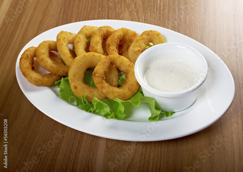 Onion Rings Breaded