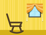 chair in room - Cartoon Background Vector