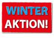 Winter Aktion Angebot Scild Button
