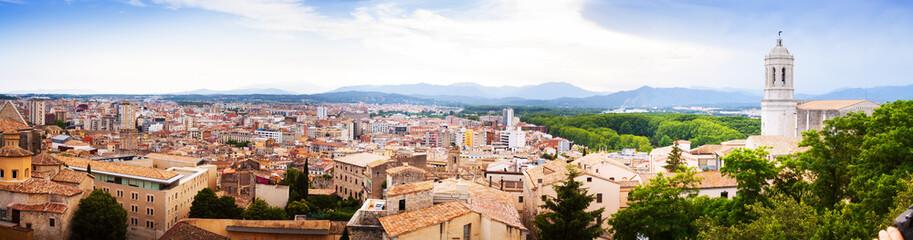 day panorama of Girona