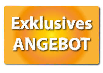 Exklusives Angebot Button Symbol gold