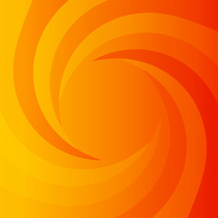 Abstract orange power background with whirlpool