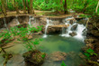 Paradise Waterfall (Huay Mae Kamin Waterfall) in Kanchanaburi, T