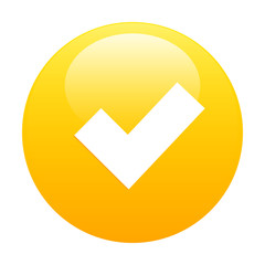 Button accept icon orange