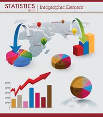 Statistics infographic element