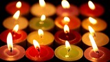 Closeup of colorful candles