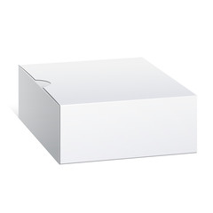 Realistic Cardboard Box. Square shape. Vector