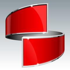 Shiny gloss red vector banner eps 10