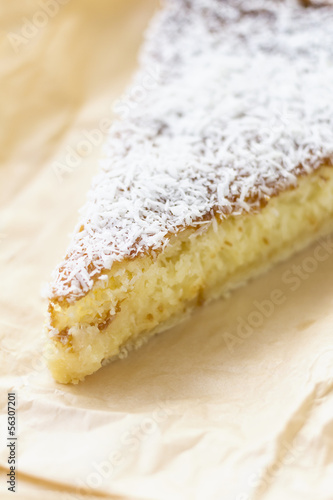 coconur custard slice