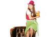 Hübsche Frau mit Bier