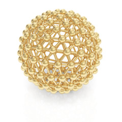 Golden molecule sphere structure