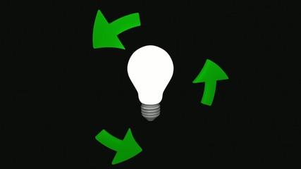 Bulb and green arrows - loop.