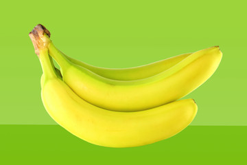 banana in green background