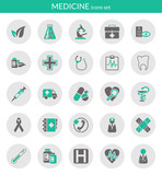 Fototapety Icons about medicine