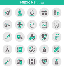 Icons about medicine