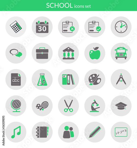 Icons about school
