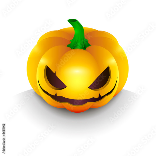 the best dark pumpkin on Halloween, with the eyes and light