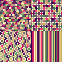 seamless multicolored geometric pattern