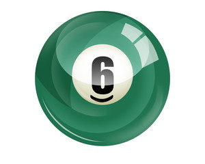 Billiard ball number 6