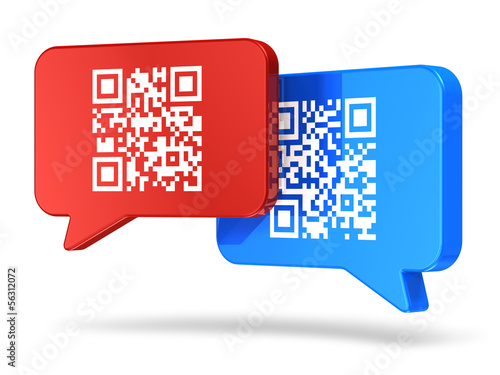 QR code communication concept