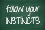 follow your instincts phrase poster