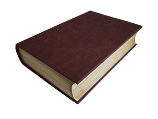 Closed book with leather hardcover