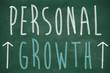 Personal growth phrase handwritten