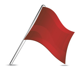 social network icon Red flag