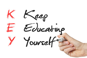 Keep education yourself