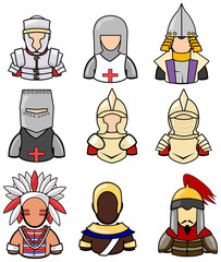 Ancient warrior icon collection set 2