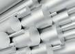 canvas print picture - Aluminium Rohre aufsteigend voll