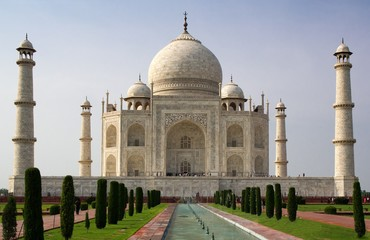 View of famous Taj Mahal in India