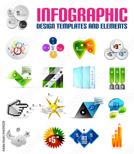 Modern colorful infographic templates and elements