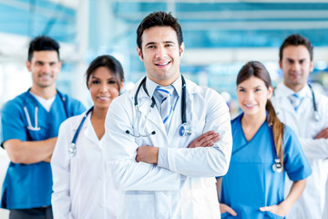 Doctor with his team