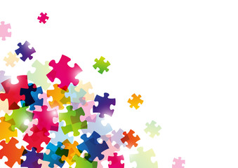 Color puzzle background for Your design
